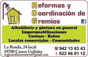 RCG REFORMAS Y COORDINACION DE GREMIOS